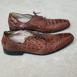 Fratelli Men Brown Lace Up Dress Shoes Size 12